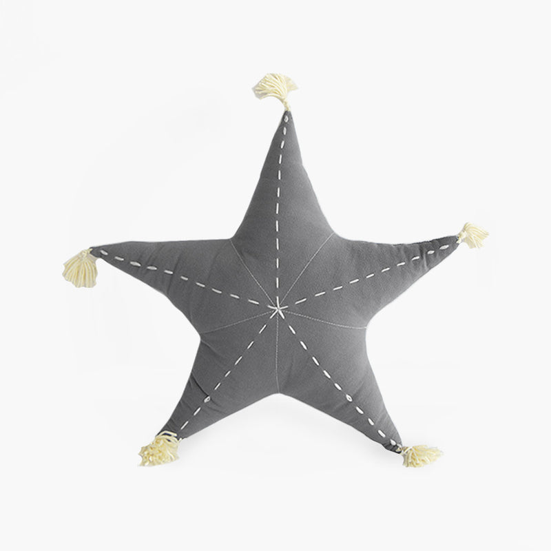Sea Star Scatter with Tassels - Misty Grey - CLM Home