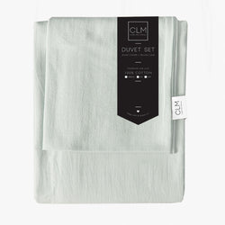 Signature Duvet Set - Pistachio - Single - CLM Home