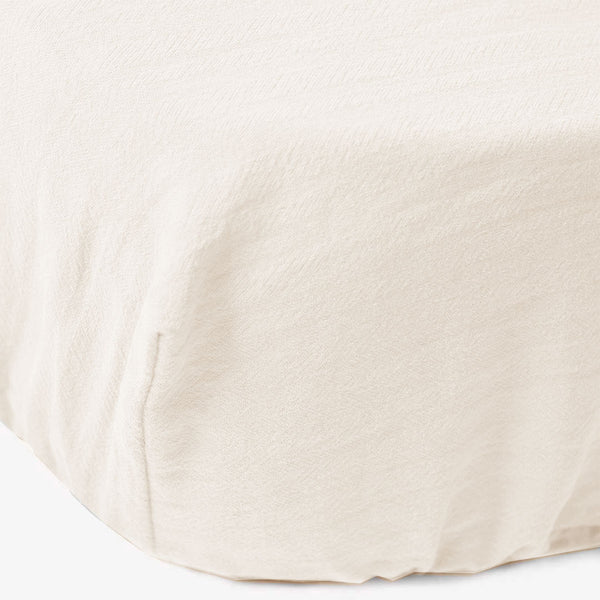 Signature Cot Fitted Sheet - Ivory - 140 X 70 European Cot - CLM Home