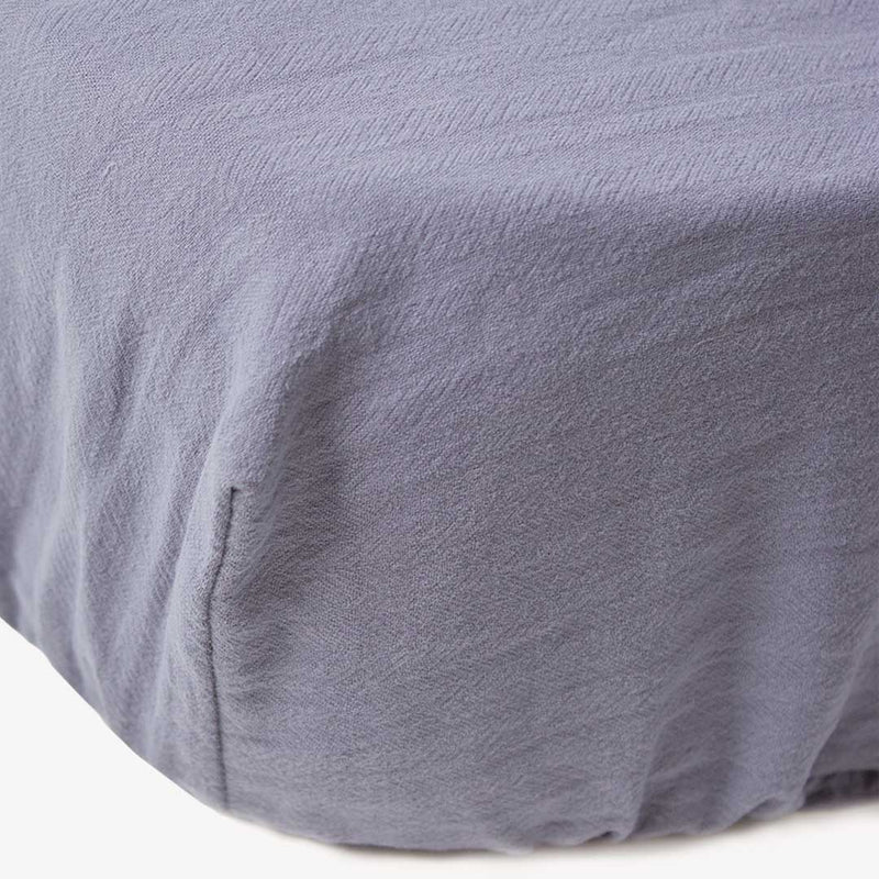Maravi Moses Basket Signature Fitted Sheet - Dusky Blue - CLM Home