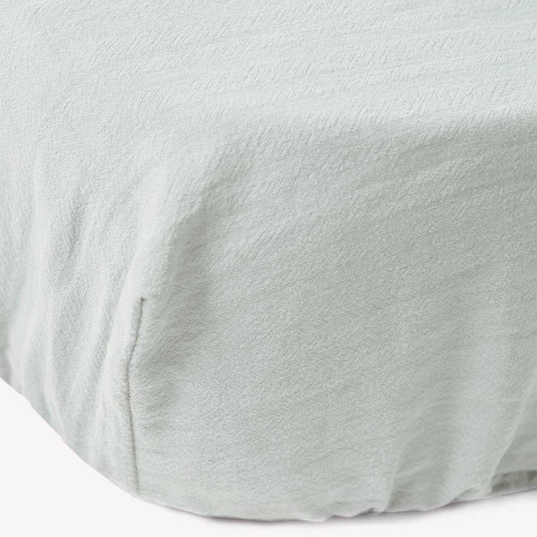 Signature Cot Fitted Sheet - Pistachio - 140 X 70 European Cot - CLM Home