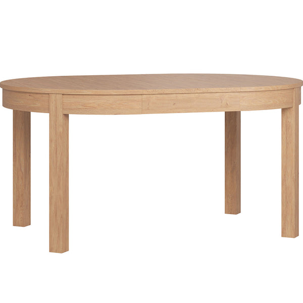 Simple Round Extendable Table - Oak - CLM Home