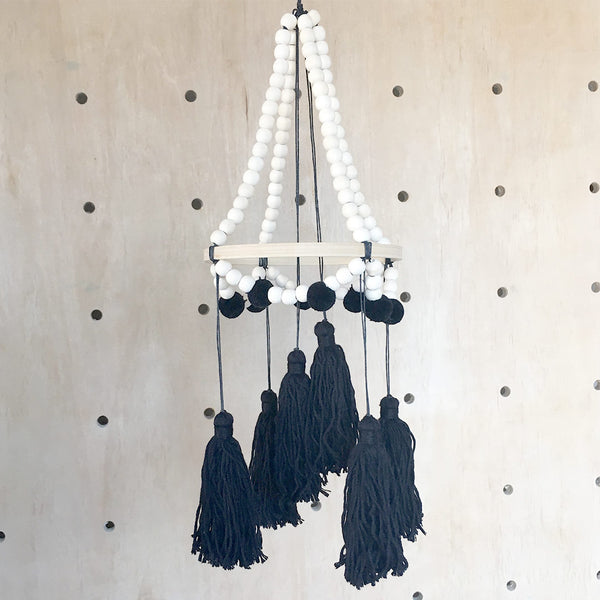 Tiger Lily - Black Tassel Mobile - CLM Home