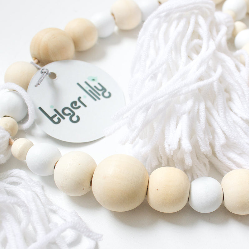 Tassel Garland - White - CLM Home