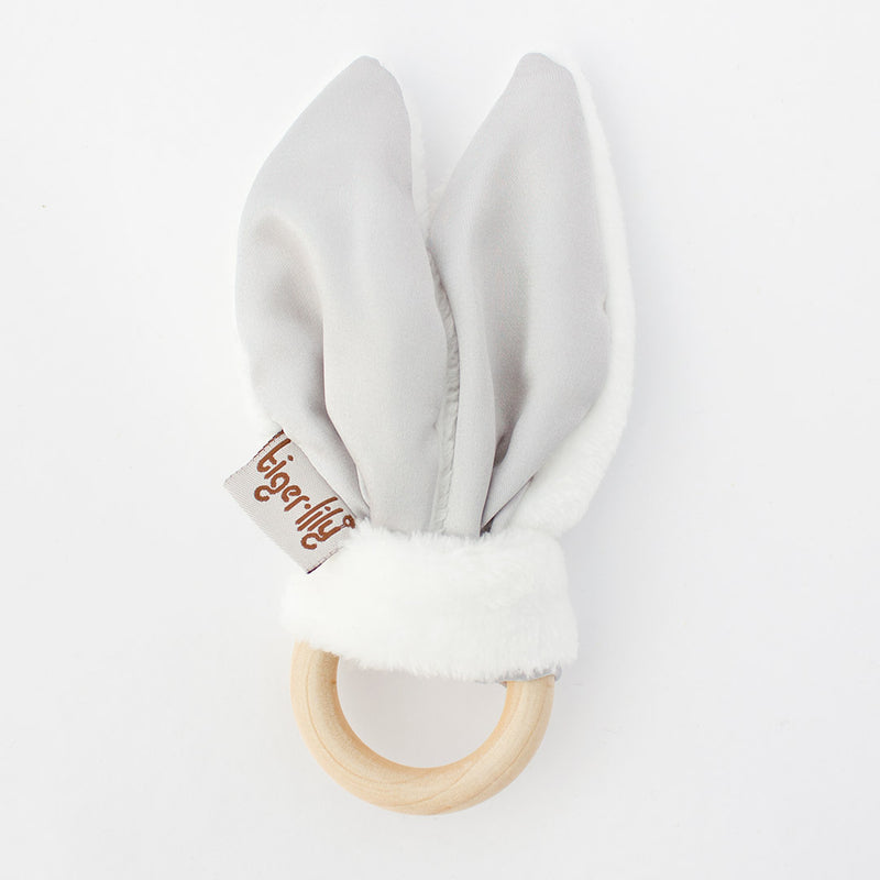 Bunny Ear Teether Silver And White - CLM Home