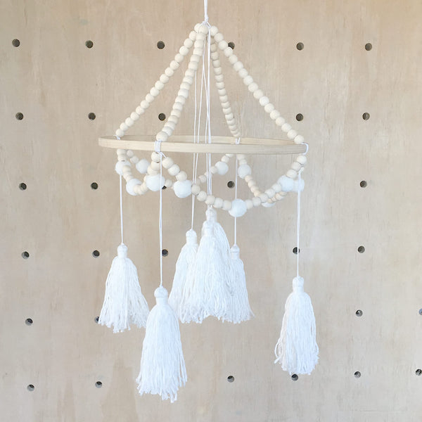Ivory Tassel Mobile - CLM Home