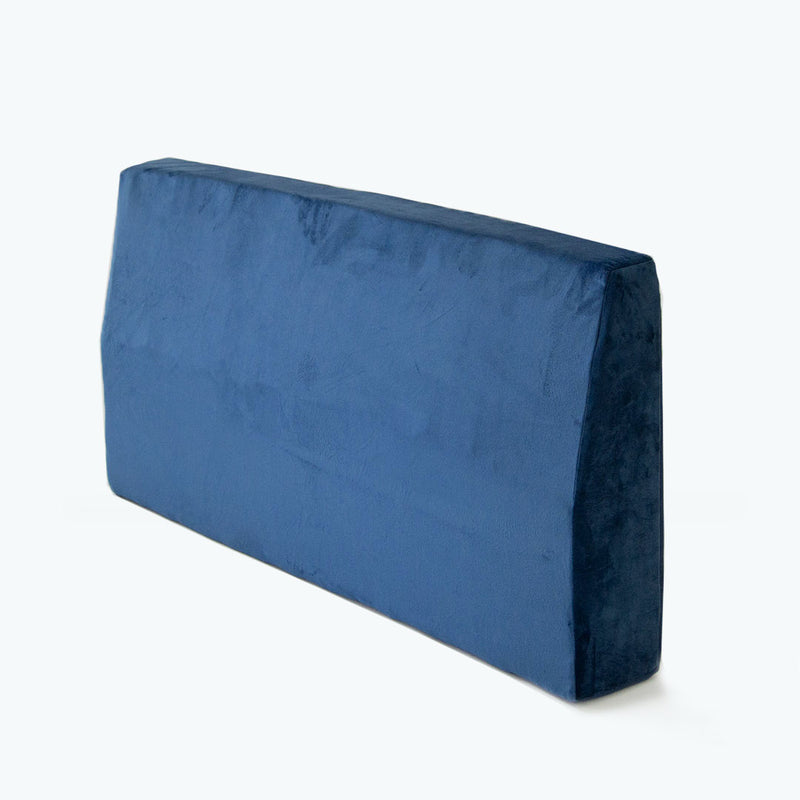 Velvet Headboard Bolster Single - Midnight Blue - CLM Home