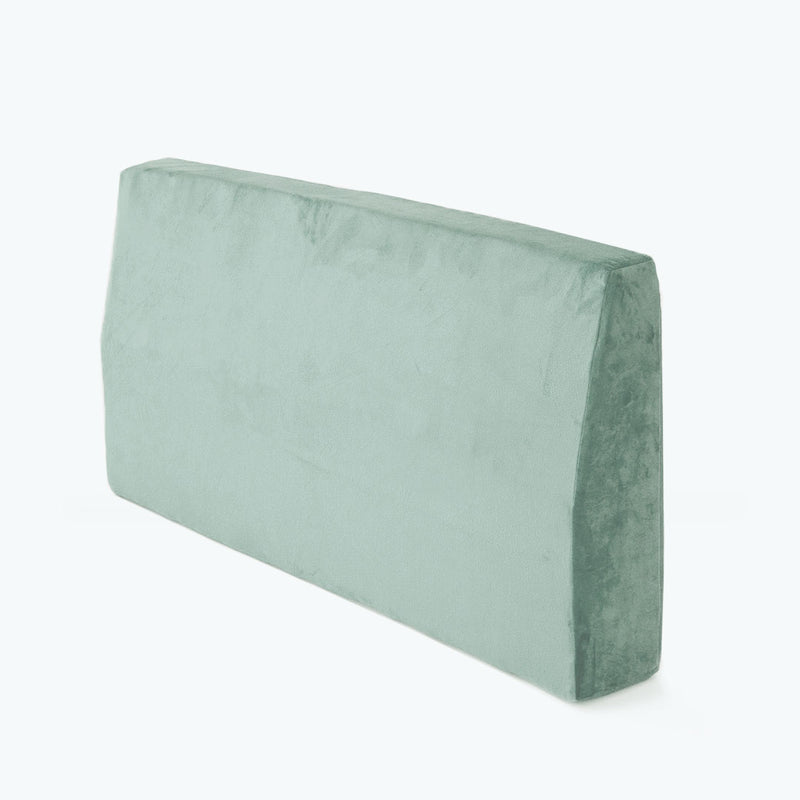 Velvet Headboard Bolster Single - Seafoam - CLM Home