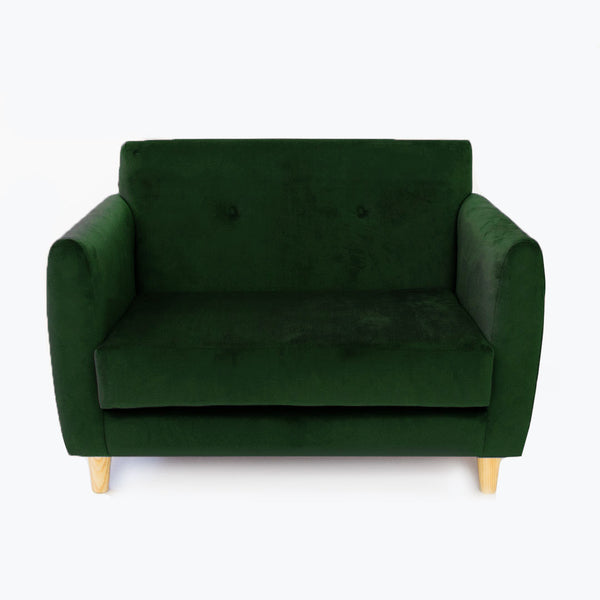 Velvet Scandi Kids Couch - Various Colours - CLM Home