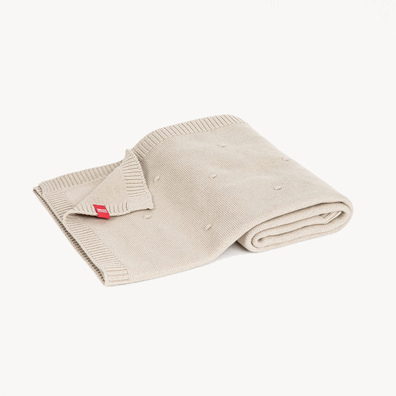 Eco Cotton Baby Blanket 100X80 - Beige - CLM Home