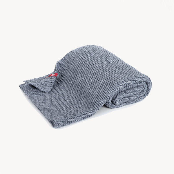 Knitted Baby Blanket 90X75 - Grey - CLM Home