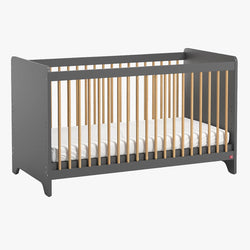 Leaf Cot Bed 70X140 - Graphite - CLM Home