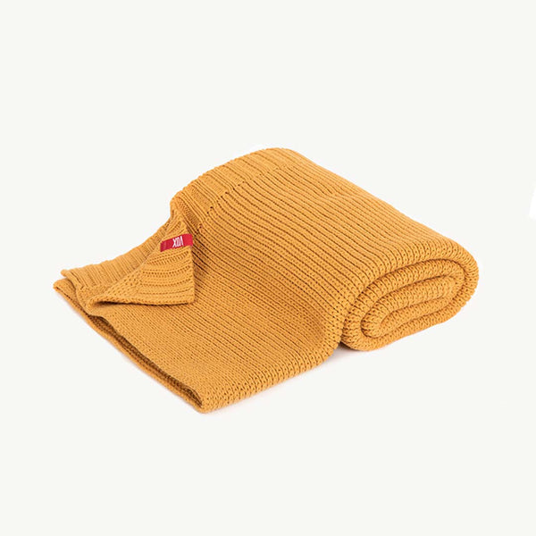 Knitted Baby Blanket 90X75 - Mustard - CLM Home
