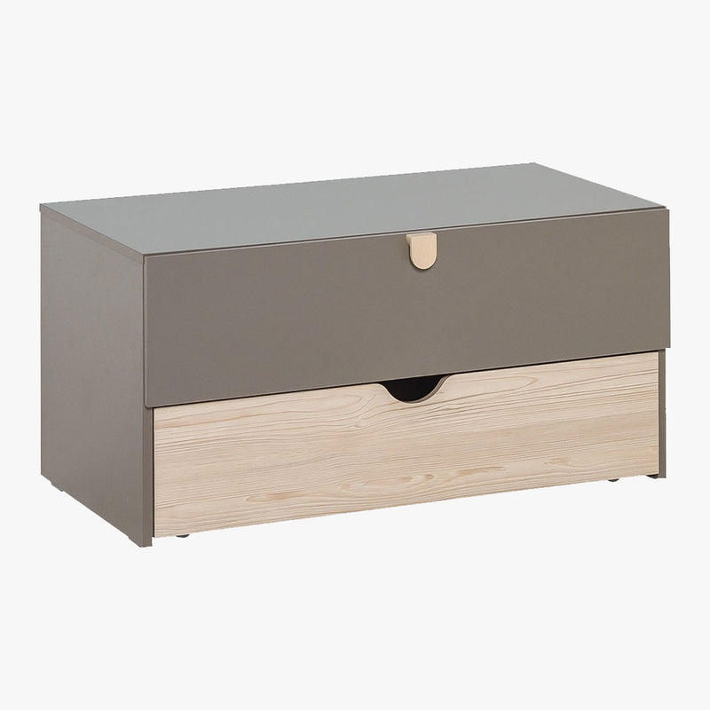 Stige Storage Unit - Pine/Taupe - CLM Home