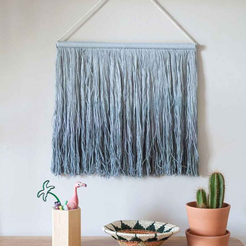 Tie-Dye Wall Hanging - Vintage Blue - CLM Home