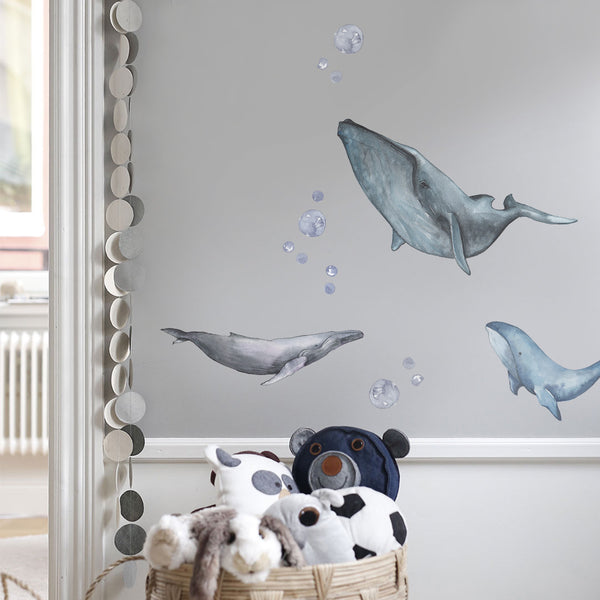 Watery Whale Wall Decals - CLM Home