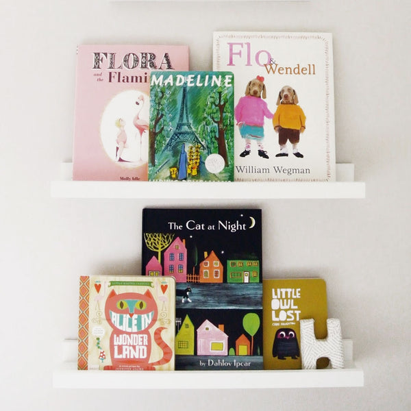 Book Display Ledge - White, Small - CLM Home