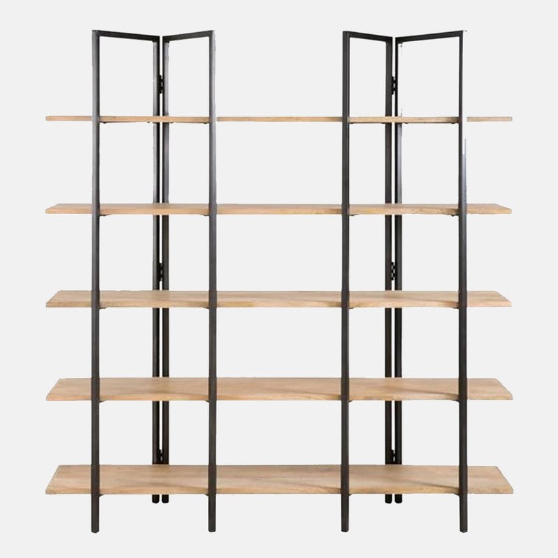 Wood and Metal Bookshelf - CLM Home