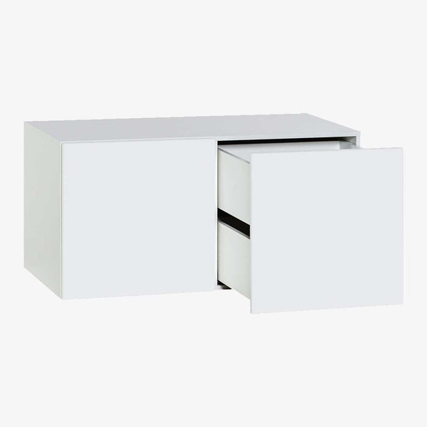 YU Dresser with 2 Drawers - White - CLM Home