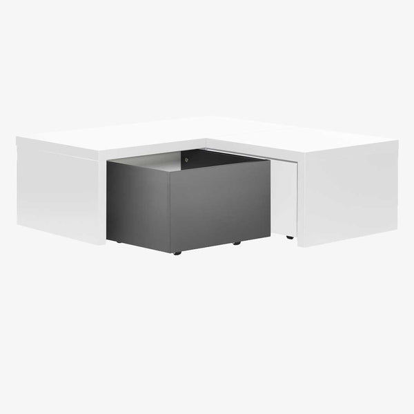 YU Reversible Corner Drawers - White/Black - CLM Home