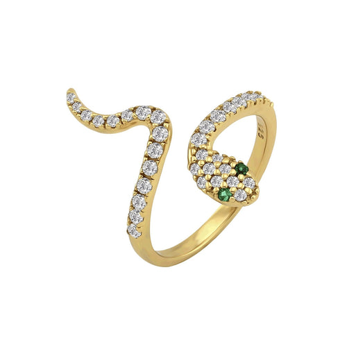 Pave Serpent Slither Ring Gold