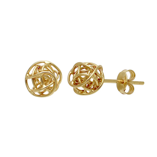 Wire Love Knot Stud Earrings