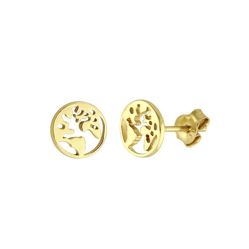 Traveller World Map Stud Earrings