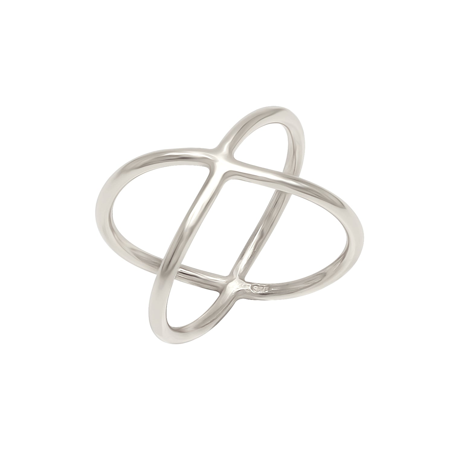 Criss Cross Ring Silver