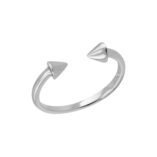 Spike Open Ring Silver