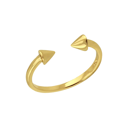 Spike Open Ring Gold