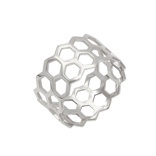Honeycomb Ring Silver