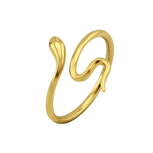 Snake Slither Ring Gold