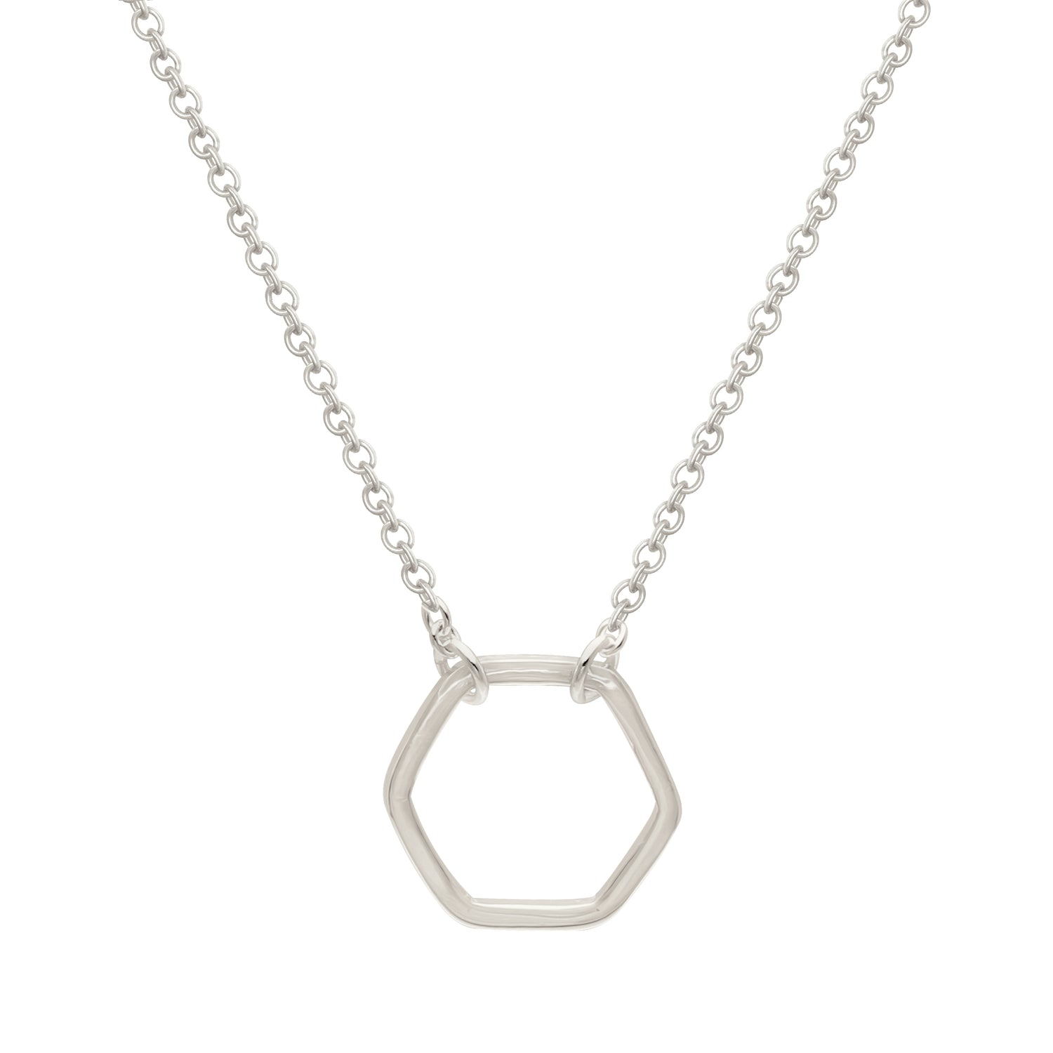 Modern Hexagon Necklace