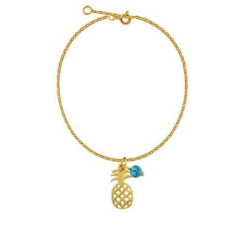 Tropical Pineapple Anklet