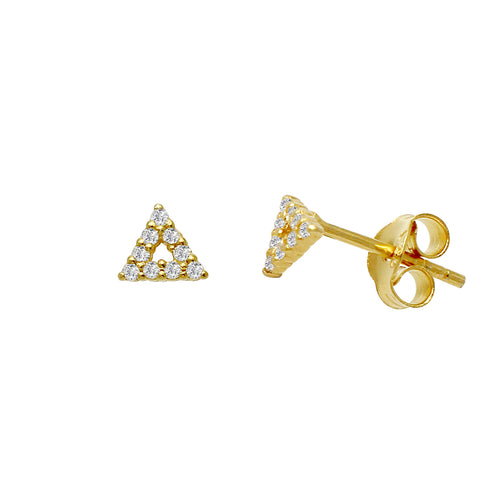 Sparkle Tuxedo Stud Earrings