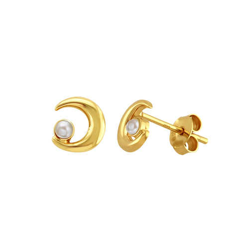 Moon Phrase Stud Earrings