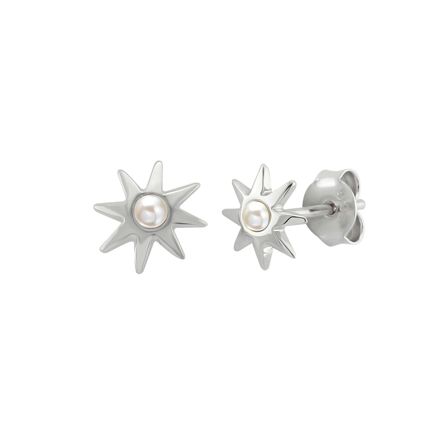 Sun Phrase Stud Earrings