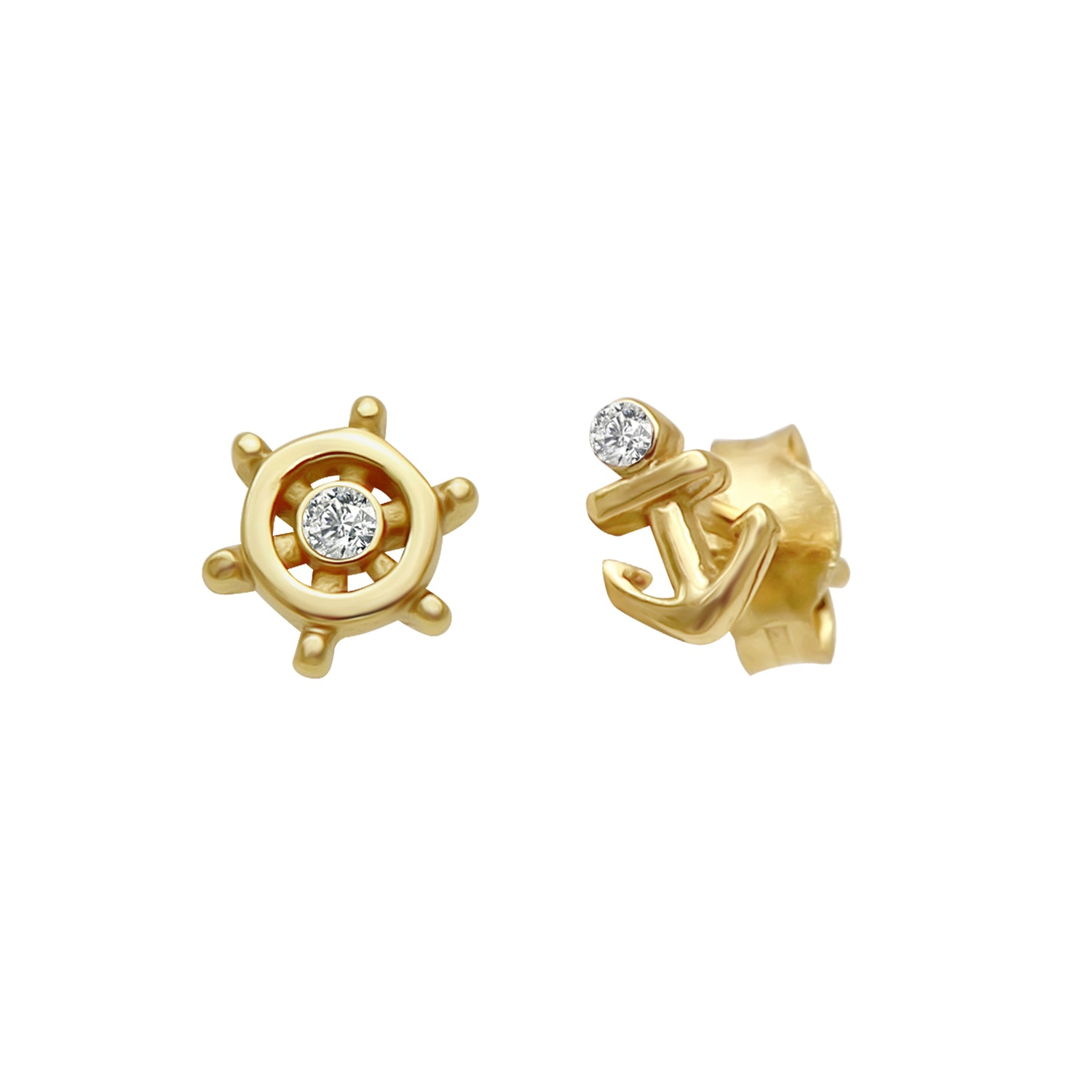 Wheel Nautical Stud Earrings