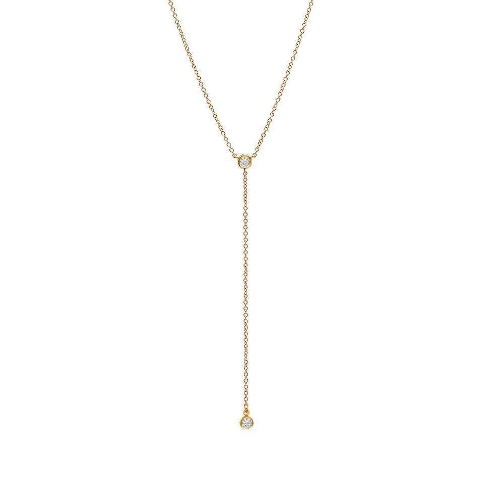 Gold Bling Lariat Necklace