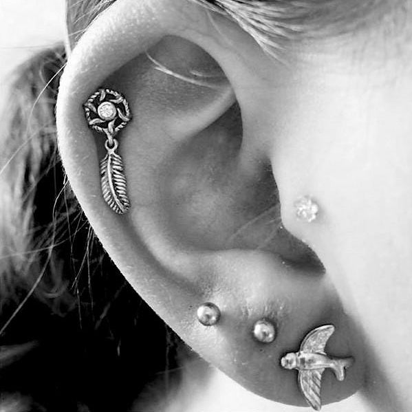 Dream Catcher Cartilage Barbell