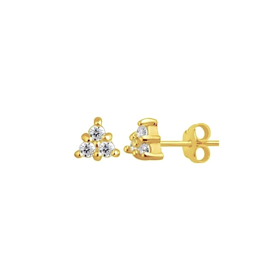 Sparkle Trinity Stud Earrings
