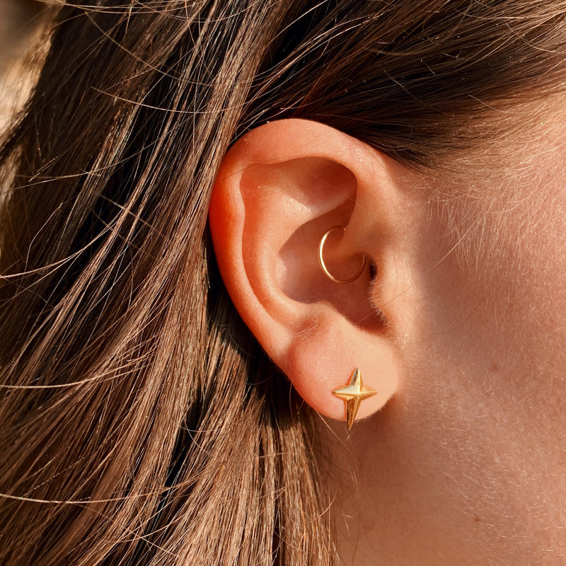 Divine Star Stud Earrings