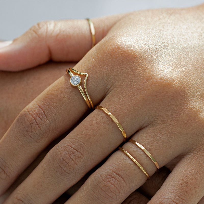 Chevron Ring Gold