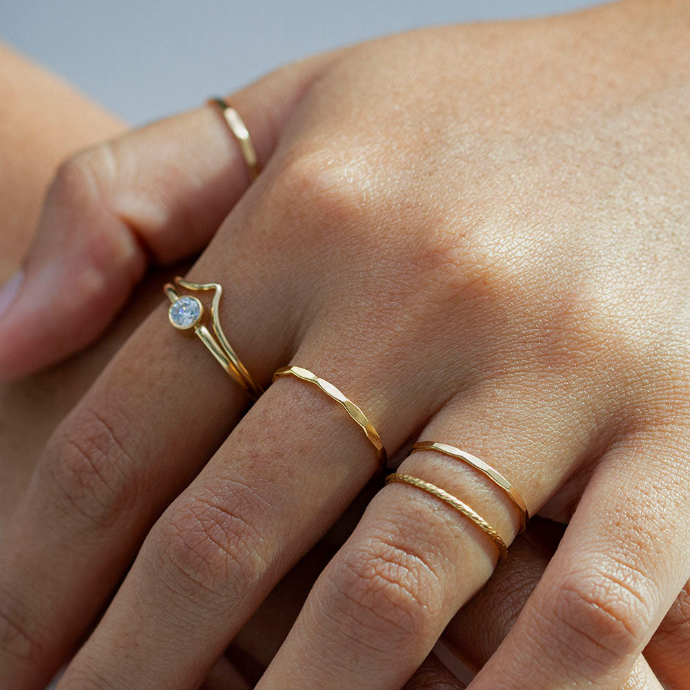 Sparkle Skinny Ring Gold