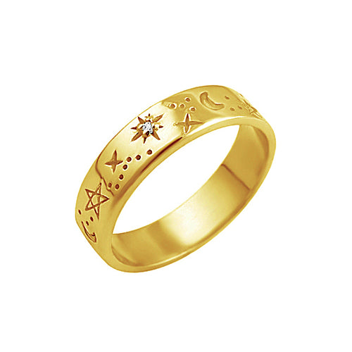 Celestial Band Ring Gold