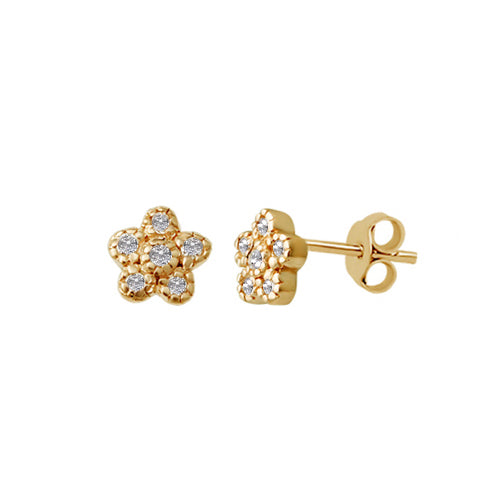 Sparkle Bloom Stud Earrings
