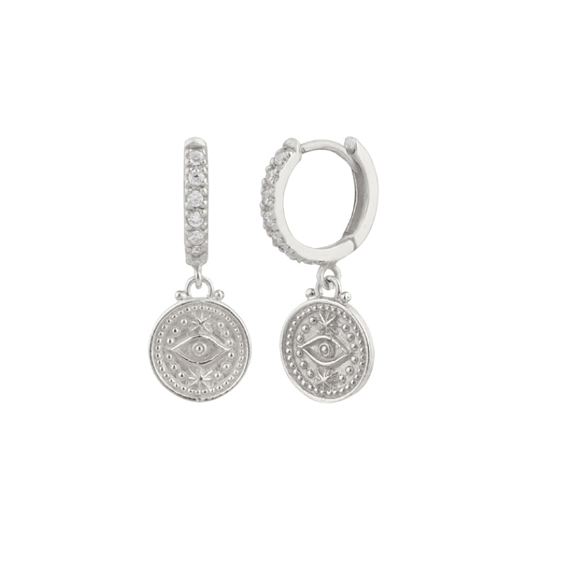 Protective Eye Hoop Earrings