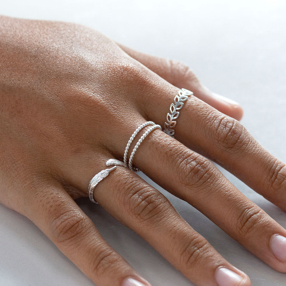 Twist Rope Double Ring