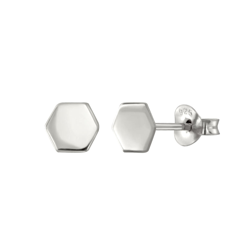 Hexagon Chic Stud Earrings