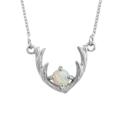 Opal Antler Necklace